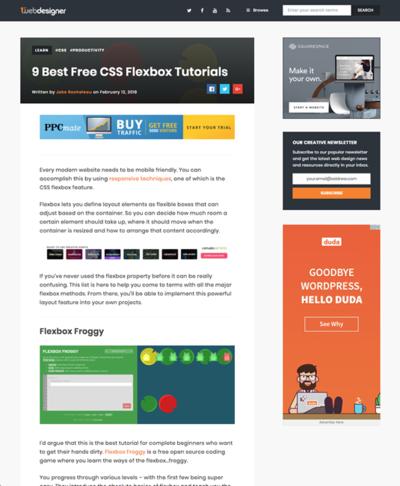 図4 CSS Flexboxのチュートリアル9選