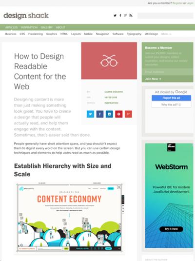 図2 読みやすいコンテンツのデザイン方法
