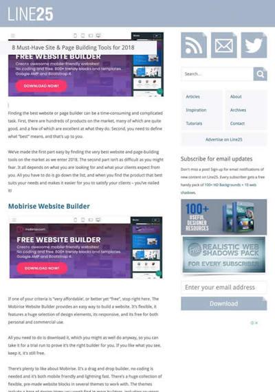 図5 ウェブサイトビルダーを8つ紹介