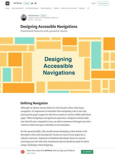 図3 アクセシブルなナビゲーションデザインのヒント