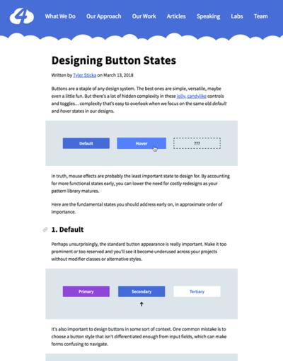 図1 ボタンのステータス(状況)によるデザインのヒント