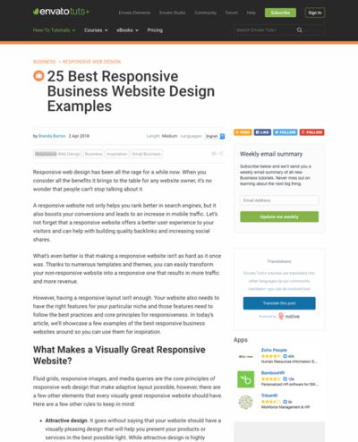 図2 レスポンシブデザインの企業サイトの良い例いろいろ