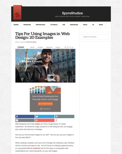 図3 ウェブデザインでの画像の扱い方のヒント