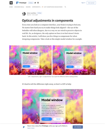 図1 デザインの構成要素を見た目で調整する方法
