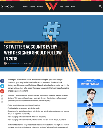図5 フォローすべきツイッターアカウント18選