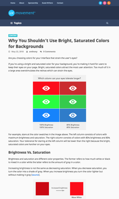図3 明るいはっきりした色を背景に使ってはいけない理由