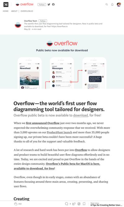 図4 フロー図作成ツールOverflowの紹介