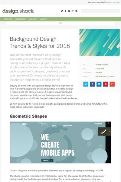 図5 背景デザインのトレンド&スタイル