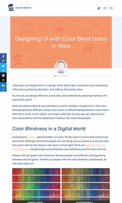 図2 色覚異常ユーザーを考慮したUIデザインのヒント