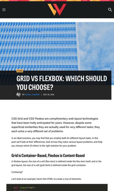図2 CSS GridとFlexboxの実践的な使い分け方法を解説