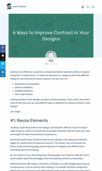 図2 デザインのコントラストを改善する6つの方法