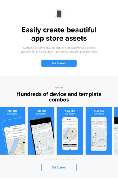 図6 アプリの紹介画像を簡単に作れるサービス