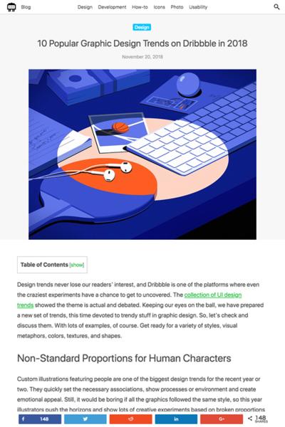 図1 2018年のグラフィックデザインのトレンド