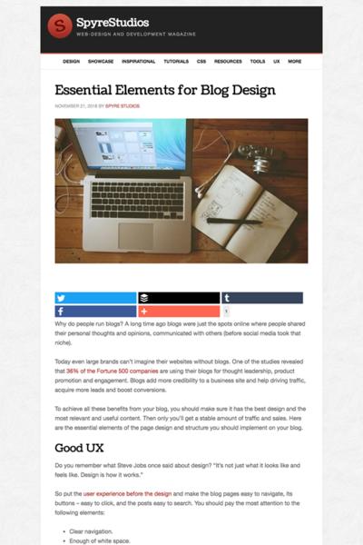 図4 ブログデザインの必須要素