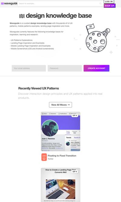 図3 UI/UXデザインパターンのライブラリサイト