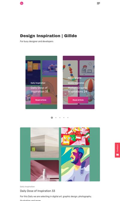図5 デザインインスピレーションをたくさん集めたサイト