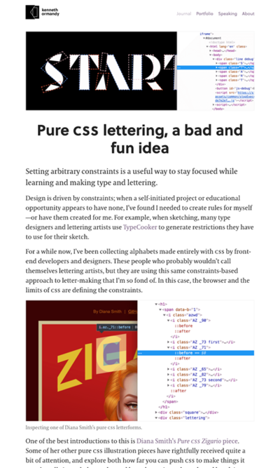 図2 CSSの描画機能で作られたCSSフォントのまとめ