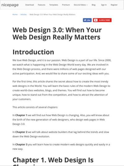 図1 Web Design 3.0の定義や目指すところを解説