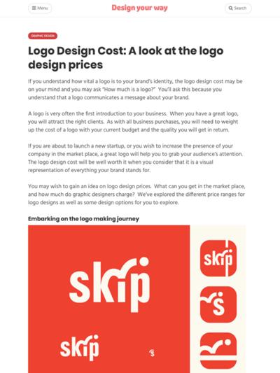 図4 ロゴデザインにかかるコストについて