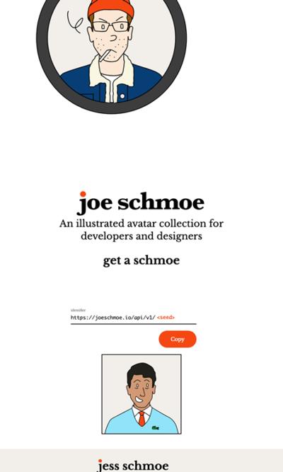 図6 人物イラストアイコンを生成するサービス