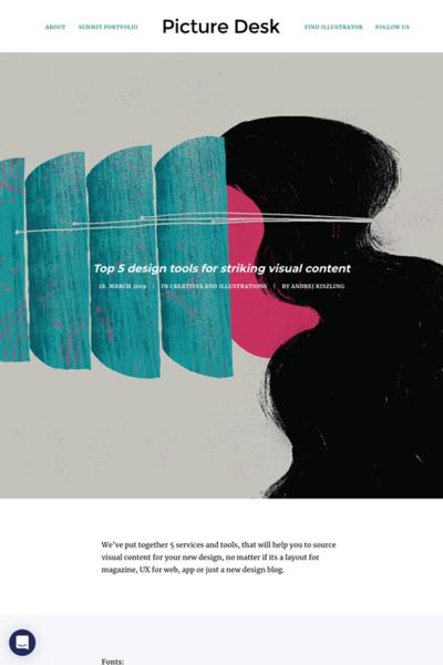 図3 ビジュアルコンテンツのためのデザインツールいろいろ