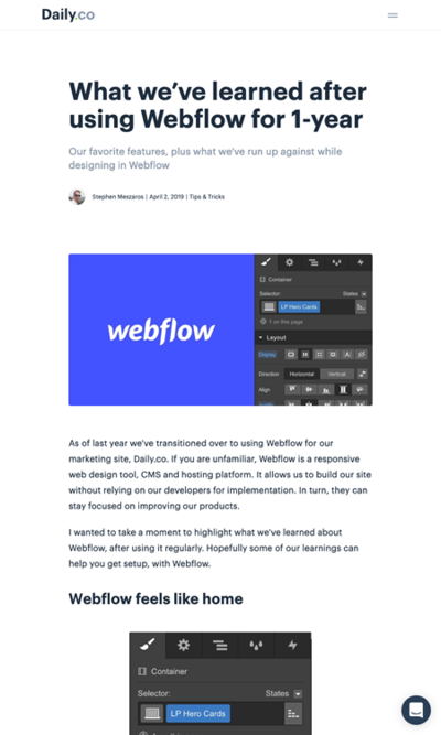 図2 Webflowの気に入っている機能やできること