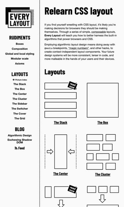 図1 CSSによるレイアウト技法を学び直せるサイト