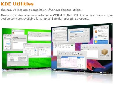 図2 KDE Utilitiesサイトより抜粋