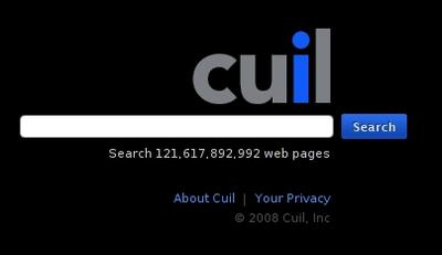 図1 Cuil検索画面 - 検索ワード予測提案機能もあり