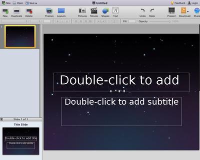 図2 280 Slides 実行画面例