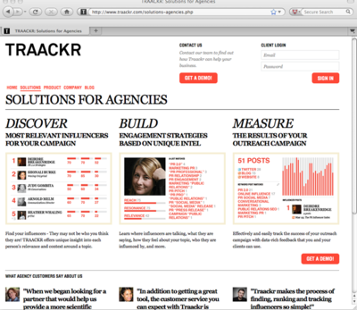 インフルエンサー検索サービス―TRAACKR―