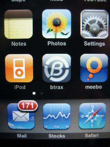 図4 iPhoneのアイコンとしてサイトが登録される