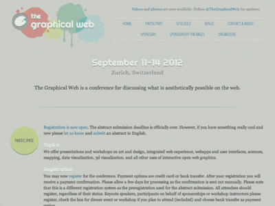 The Graphical Web2012のWebサイト