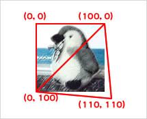 図5 第1引数は変形した三角形の頂点のxy座標