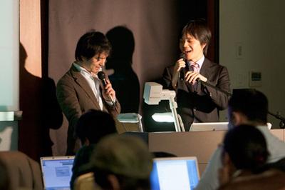 左:西畑一馬氏 右:たにぐちまこと氏