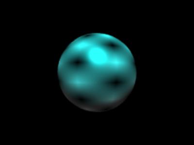 図4 3次元空間に描かれたひとつの球体