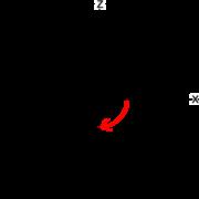 第7回図6 xz平面でy軸周りの角度は時計回りが正