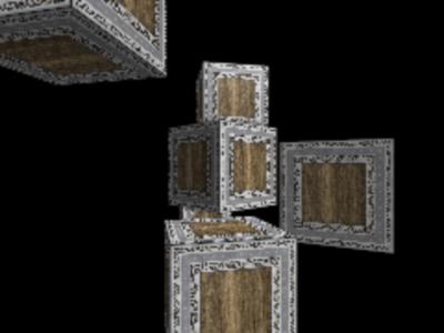 図3 周囲に置く箱の位置がランダムに定まる