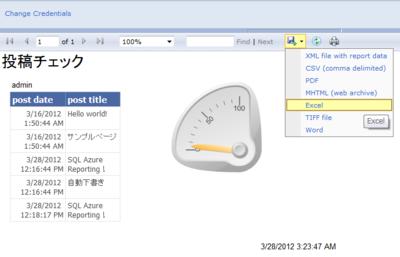 図1 SQL Azure Reporting