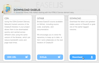 図3 「DOWNLOAD EASELJS」ページ