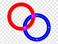 図4 Fireworksの[ブレンドモード]で[加法]を選ぶと重なりが明るくなる