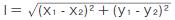 </span>図1 2点の座標から三平方の定理で距離を求める