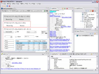 図 Flashアクセシビリティモード選択後の画面