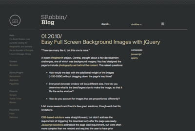 Easy Full Screen Background Images with jQuery