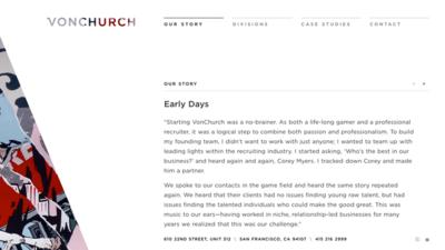図1 ローディング時の処理が工夫されている「VONCHURCH」のサイト