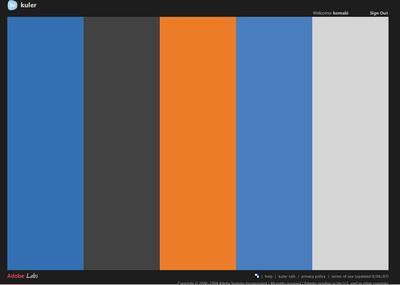 図2 新サイトの配色。