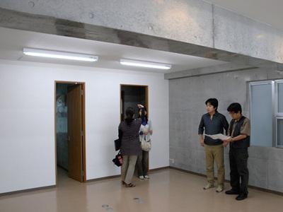 内装工事前のオフィス