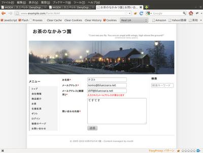 図2 メールアドレスが異なる場合のエラー画面