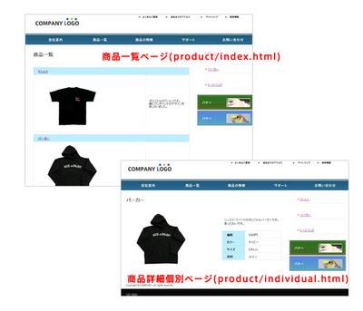 図2 商品一覧ページ,商品紹介の個別ページを,MTを使って更新できるようにカスタムフィールドを使ってカスタマイズしていきます