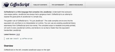CoffeeScriptを作ったJeremy Ashkenas氏は,有名な2つのフレームワークを作っています。